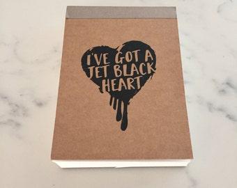 5SOS | 5 Seconds of Summer | Jet Black Heart Notepad