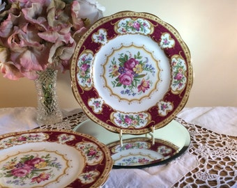 Royal Albert  Lady Hamilton Salad plate 8 inch diameter