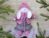 Easter Bunny - Bunny Toy - Bunny Doll - Knit Rabbit Toy - Knit Toy - Knit Stuff Bunny Plush Doll Kids Toy Child Toy Toddler toy Baby Toy