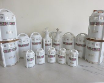 Vintage German Canister Kitchen set