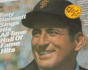 Tony Bennett vinyl record album, Tony Bennett Sings His All-Time Hall Of Fame Hits vintage vinyl record