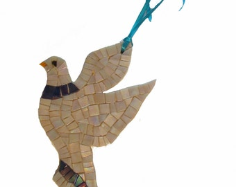 Dove mosaic trivet kitchen decor