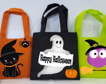 """HALLOWEEN PARTY , 10 Halloween Favor bags , Halloween Party Favors Bags, Halloween Favors, Favor Bags, 6"""" x 7"""""""