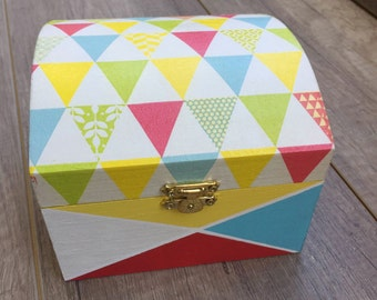 Box wooden triangles tangy colors 'Scandinavian spirit' box