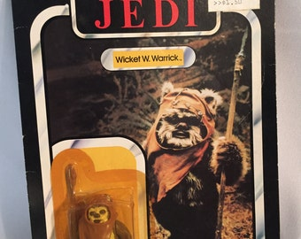 1983 Wicket W. Warrick Star Wars Figure on Card.