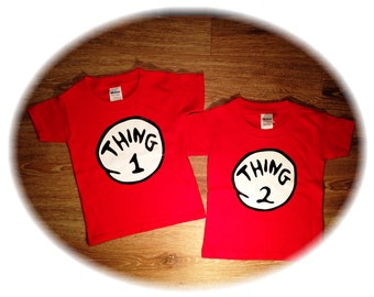 Thing 1 Thing Two, Kids Shirt, Twin Shirts, Funny Kids Clothes, Twin Outfits, Kids Photos