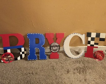 Cars Hand Painted Letters| Fancy Font