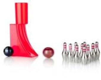 Desktop Mini Bowling Set Balls Pins Score Sheets