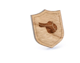 Saddle Lapel Pin, Wooden Pin, Wooden Lapel, Gift For Him or Her, Wedding Gifts, Groomsman Gifts, and Personalized