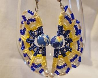 Macrame Crescent earrings OR04