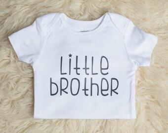 Little Brother Onesie, Little Brother Outfit, Newborn Onesie, Baby Boy Onesie, Sibling Shirt, Newborn Outfit, Baby Shower Gift