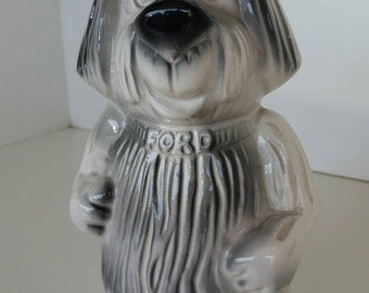 Vintage Ford ceramic dog bank. 1950's. Vintage bank.