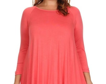 Trendy Plus size Clothing Top - Tunic
