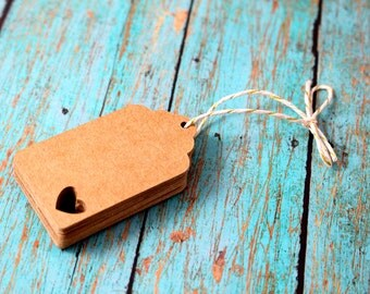 Tiny Heart Gift Tags, Die Cut Paper Tags, Wedding Wish Tags, Favor Tags, Hang Tags