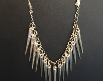 Handmade ePIPhany silver spiked Necklace