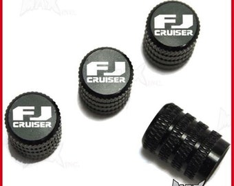 TOYOTA FJ Cruiser - Set Of 4 Lasered Logo Aluminium Tire Valve Caps (SKU-17831)