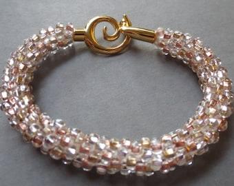 Metallic tones Kumihimo bracelet