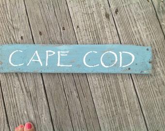 Cape Cod Sign, Massachusetts, Beachy,Coastal,Nautical,Beach,Whales, Shells, starfish