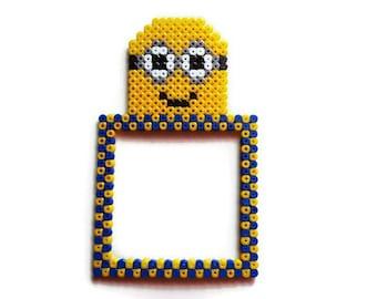 Decoration switch/plug Minions [Pixel Art Hama beads]