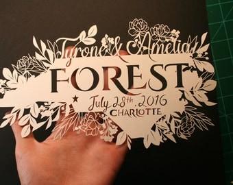 Original Paper Cutting - Personalized Wedding Gift