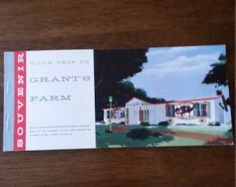 Vintage Grant's Farm Postcards 1960's Souvenir Booklet Anheuser-Busch St. Loius, Missouri