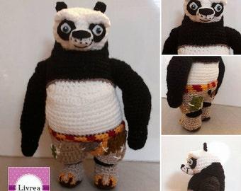 Po Kung Fu Panda, amigurumi-crochet, crochet, wool, cartonianimati
