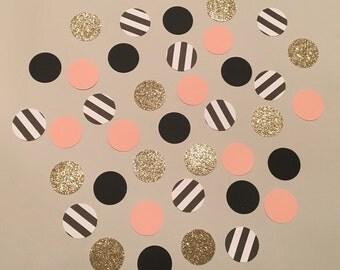 200 Paris Mix Confetti Glitter Confetti Pink Black Gold Shower Confetti Baby Confetti Wedding Confetti Birthday Confetti Polka Dot Confetti