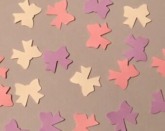 225 Bow Confetti Pink Confetti Purple Confetti Cream Confetti Girl Confetti Shower Confetti Baby Girl Birthday Confetti Baby Confetti