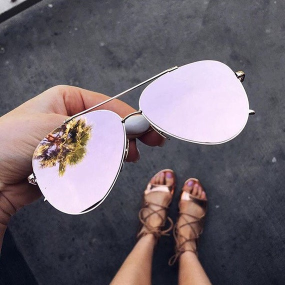 Retro Sunglasses Cat Eye Sunglasses Reflective Sunglasses Mirrored Sunglasses Mirror Sunglasses Aviator Sunglasses Rose Gold Sunglasses