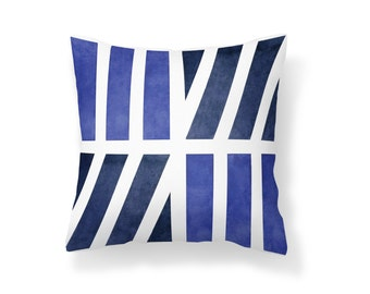 Throw Pillow Geometric, Decroative Pillow, navy pillow, white pillow, blue pillow