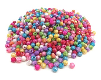 Tiny Rose Flower Beads - Mix Color - 6 mm