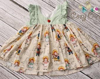 Girls Toddler Country Farm Girl Clara Ruffle Top