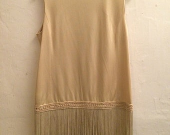 Vintage 1970's Victor Costa Flapper tunic dress