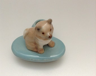 Circa. 1950's Wade Whimsie husky candle holder
