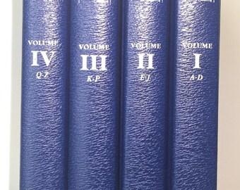Reference Library of American Men Volumes I-IV, Large Blue Books, Set  Navy Blue Books, Decorative Blue Books,  Dark Blue Books, Vintage