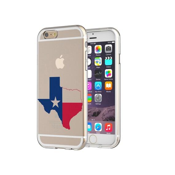 Texas Map Flag I Love Texas Clear Transparent Apple iPhones Samsung ...