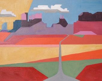 Original Oil Painting/Landscape art/painting/fine art/southwest/wall art, home decor