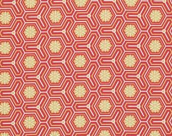 "Victoria and Albert for Westminster Fabrics   Jones   ""Hexagon""   Melon"