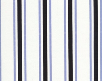 "Vicki Payne Logan Collection Cotton Sateen Bungalow Stripe in Blue 54/55"" Wide"