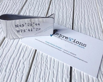 Hand Stamped Aluminum Personalized Money Clip - Groomsmen, Father's Day, Dad, Grandpa, Husband, Wedding