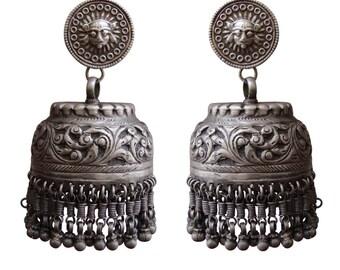 Antique Silver jewelry, Handmade Dangle earring
