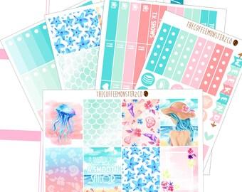 Last Summer (June Full Kit) Hand Painted erin condren stickers