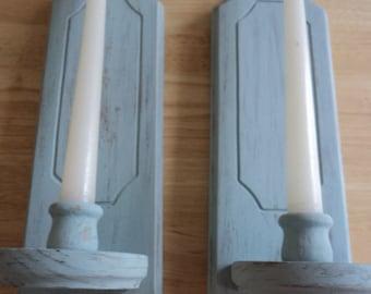 rustic candel holder,country candel holder,shabby chic candle holder wall candle holder,wood candle holder,wall hanging candle holder,