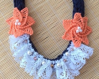 Lace And Flowers Necklace
