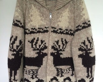 Vintage Zipup Siwash Sweater *Large*