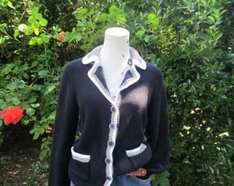 Vintage 90s Fontana cotton Cardigan knit Cardigan cotton S