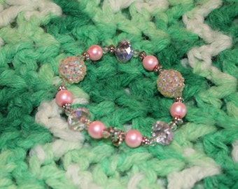 Handmade pink bracelet