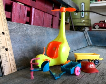 Liddle Kiddles Accessories |  Copter, Yellow Wagon, Baseball Cap, Trike and Wagon