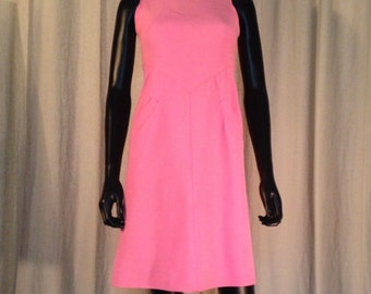 Courrèges - Pink years dress 70 s