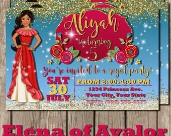 Elena of Avalor Birthday Invitation! Disney Princess! Digital, JPEG, PDF, 300dpi!